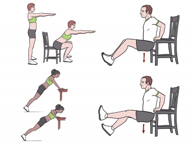 BeckyFIT Illustrations Chair Workout