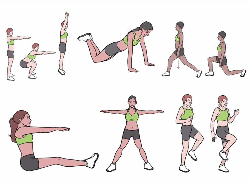 BeckyFIT Illustrations Workout