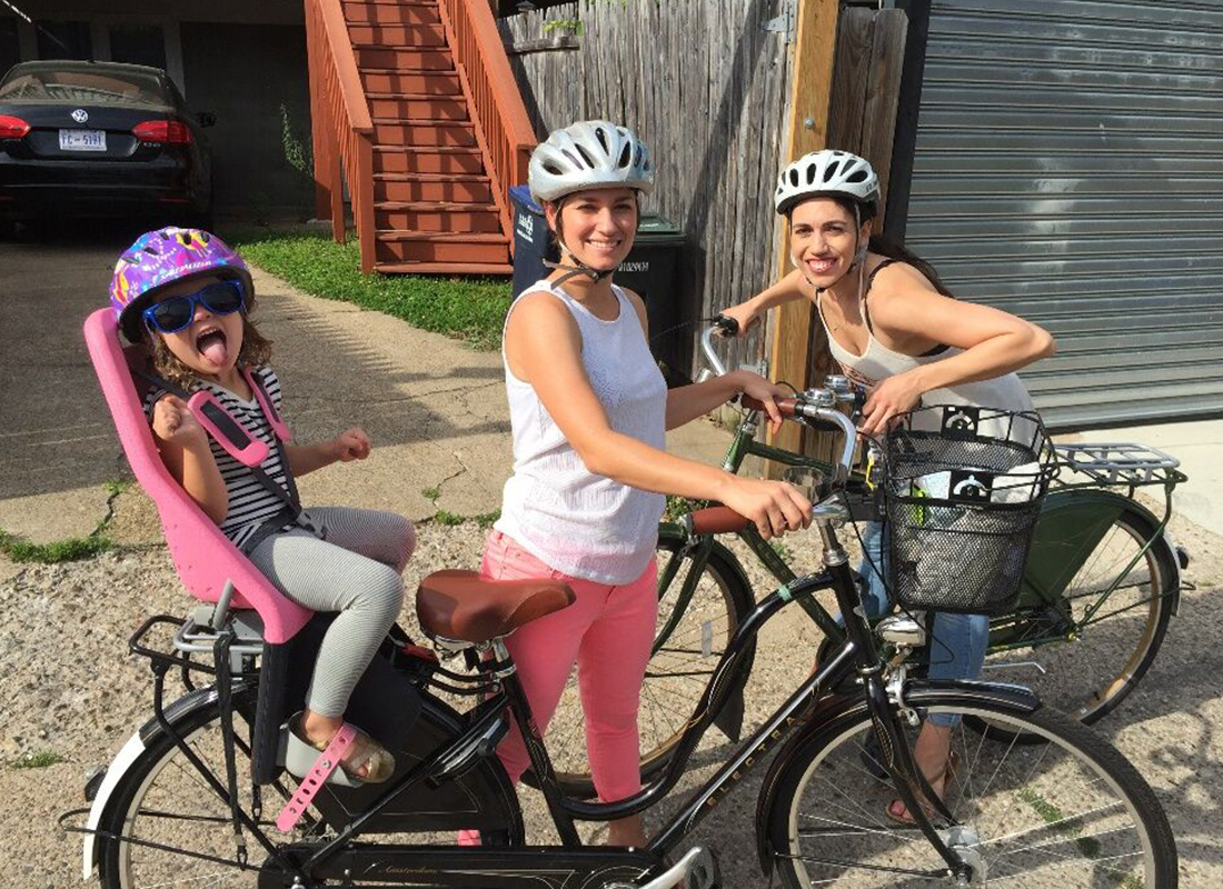 Becky Conti Biking with Friends