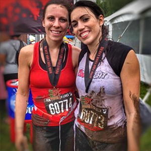 Becky Conti Zombie Mud Run with Sister