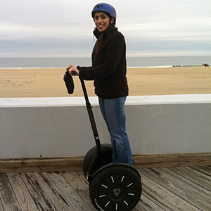 Becky Conti Riding a Segway