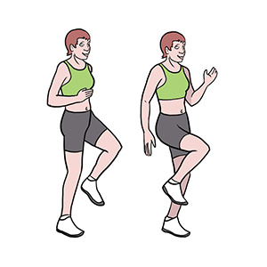 BeckyFIT Illustration Knee Ups