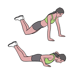 BeckyFIT Illustration Push Up on Knees