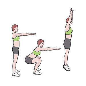 BeckyFIT Illustration Squat Jump