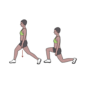BeckyFIT Illustration Standing Lunge