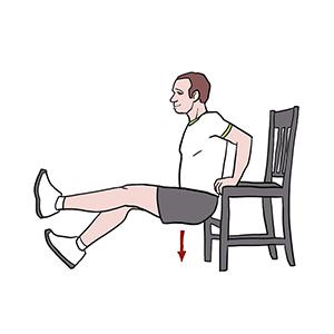 BeckyFIT Illustration Tricep Dip Leg Extension