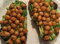 Chickpea Avocado Toast