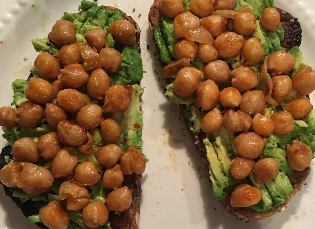 Chickpea Avocado Toast Recipe