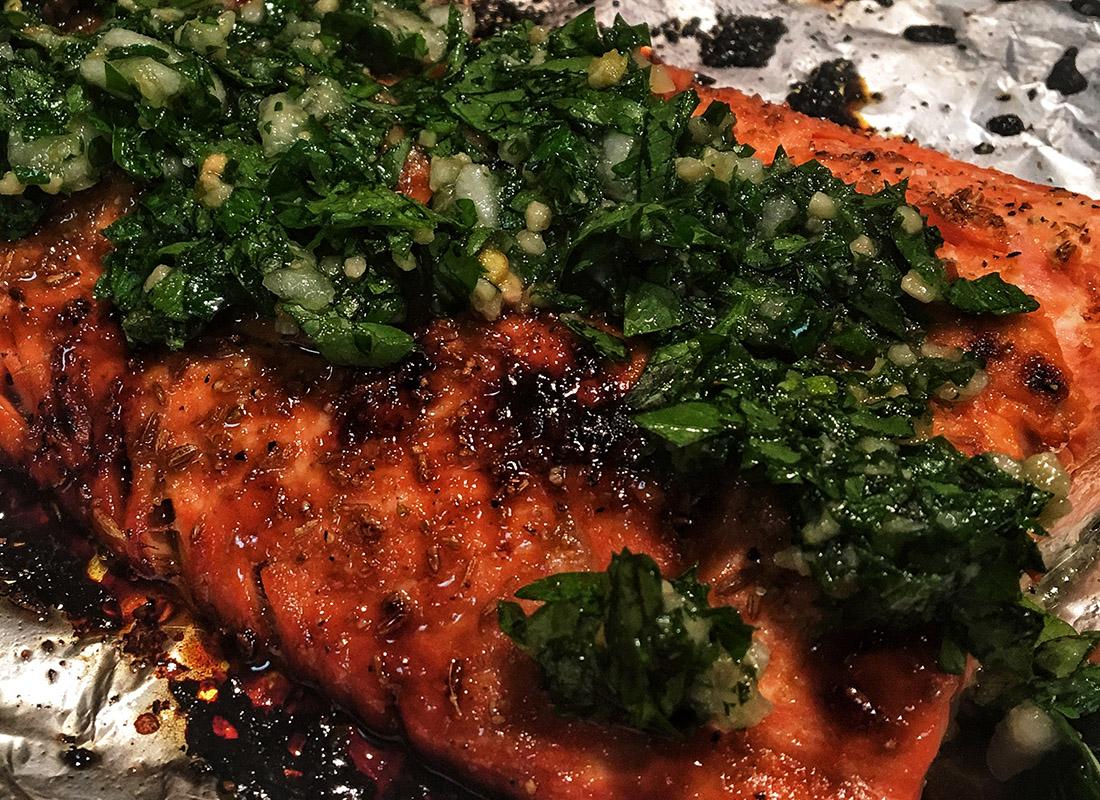 Salmon and Parsley Sauce