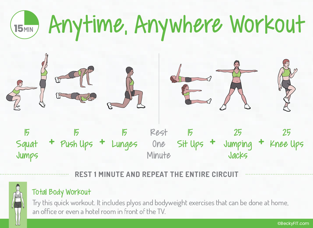 BeckyFIT 15 Minute Anytime Anywhere Workout