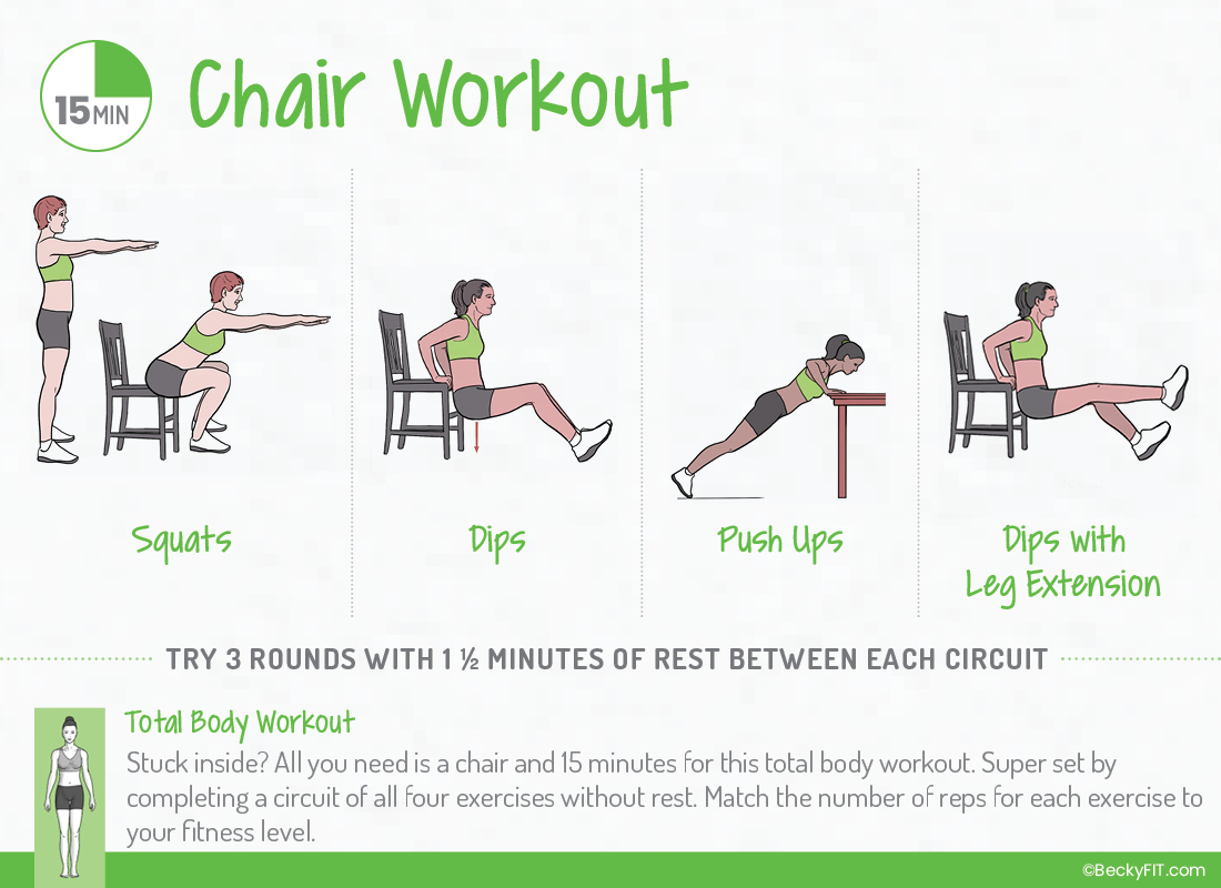 BeckyFIT 15 Minute Chair Workout