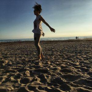 Becky Conti Beach Yoga