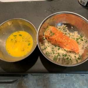 Parmesan Crusted Salmon Coating