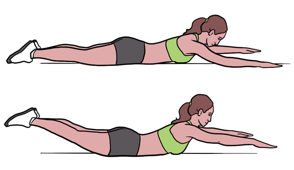 BeckyFIT Illustration Superman Exercise