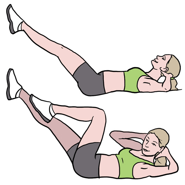 BeckyFIT Illustration Bicycle Exercise