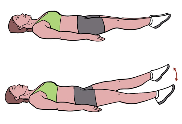 BeckyFIT Illustration Scissor Kicks Exercise